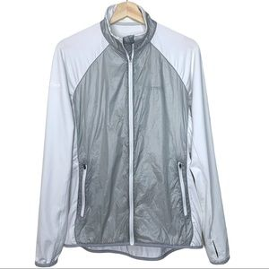 Marmot Frequency Hybrid Jacket in Grey and White